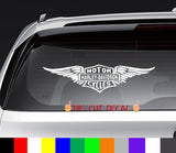 Harley Davidson Wings Decal Sticker