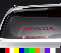 Honda Motorcycles Decal Sticker