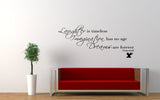 Laughter Is Timeless Tinkerbell Quote Wall Decal Sticker