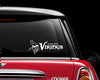 Minnesota Vikings Text Car Decal Sticker NFL Football