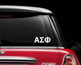 Alpha Sigma Phi Decal Sticker Greek Sorority Fraternity College