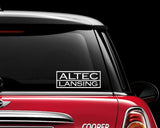 Altec Lansing Decal Sticker Graphic Car Stereo