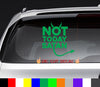 Not Today Satan NOTW Decal Sticker
