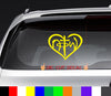 Not of This World Heart NOTW Decal Sticker