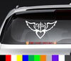 Not of This World Wings Heart NOTW Decal Sticker