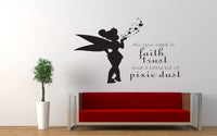 Pixie Dust Tinkerbell Quote Wall Decal Sticker