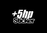 Plus Five Horsepower JDM Decal Sticker