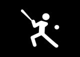 Stick Figure Baseball Decal Sticker Graphic - The Decal God