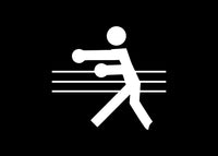 Stick Figure Boxing Punching Decal Sticker Graphic - The Decal God