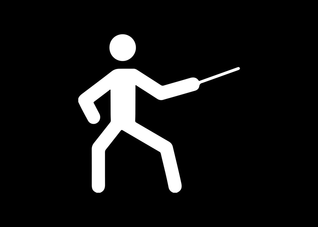 Stick Figure Fencing Swords Decal Sticker Graphic - The Decal God