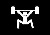 Stick Figure Power Weight Lifting Cross Fit Decal Sticker Graphic - The Decal God