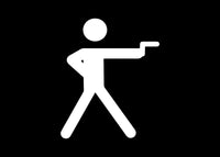 Stick Figure Shooting Gun Pistol Decal Sticker Graphic - The Decal God