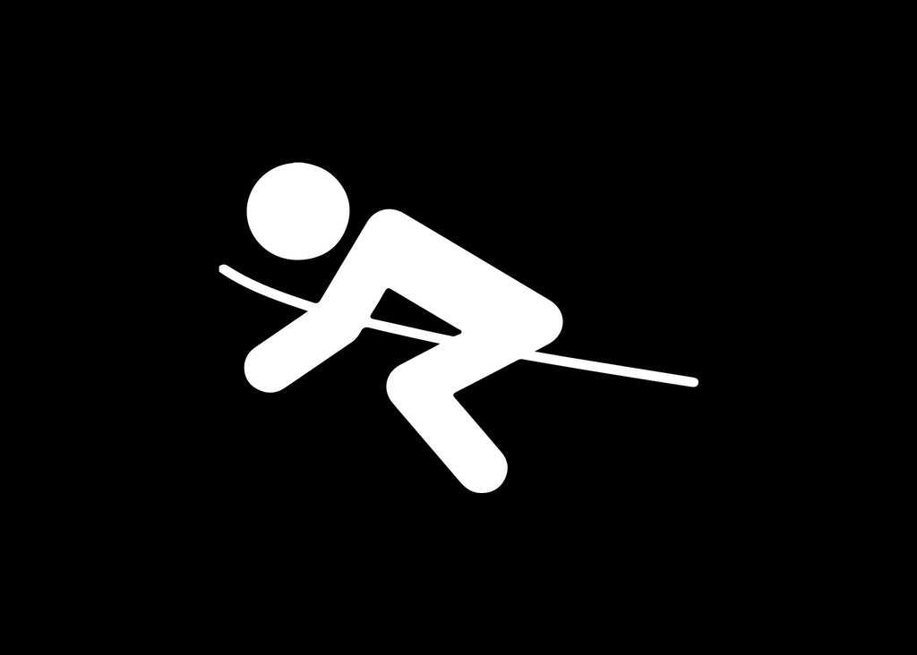 Stick Figure Downhill Skiing Snow Decal Sticker Graphic - The Decal God