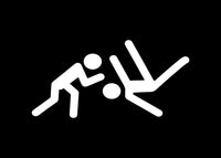 Stick Figure Wrestling Jiu Jitsu Decal Sticker Graphic - The Decal God