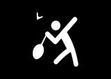 Stick Figure Badminton Decal Sticker Graphic - The Decal God