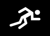 Stick Figure Sprinting Sprinter Runner Decal Sticker Graphic - The Decal God