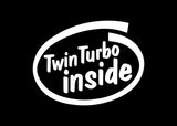 Twin Turbo Inside JDM Decal Sticker Graphic
