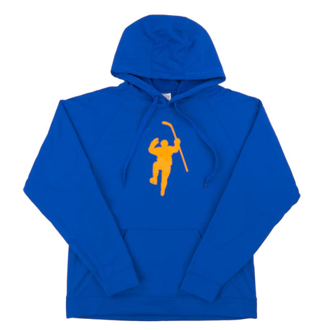 Royal with Yellow Logo Performance Hoodie