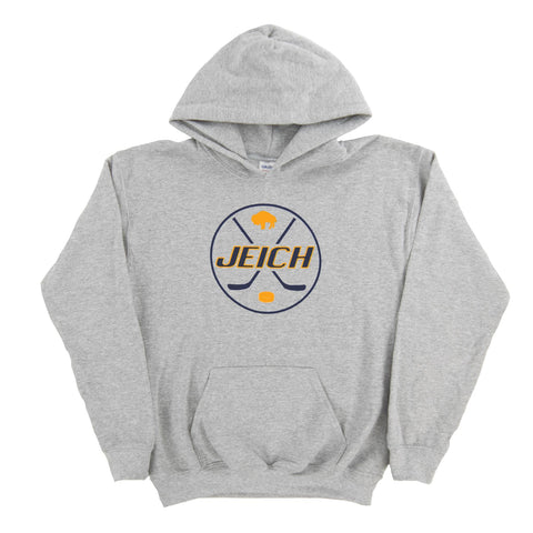 JEich Crest Logo Gray Dual Blend Hoodie (Youth)