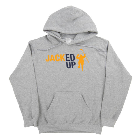 Jacked Up Gray Dual Blend Fleece Hoodie