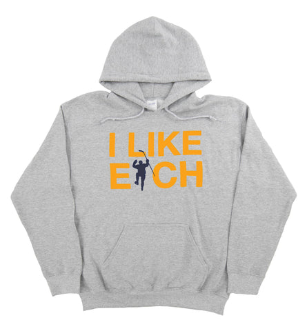 I Like Eich Gray Dual Blend Fleece Hoodie