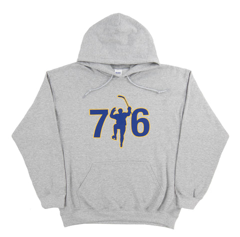 716 Gray Dual Blend Fleece Hoodie