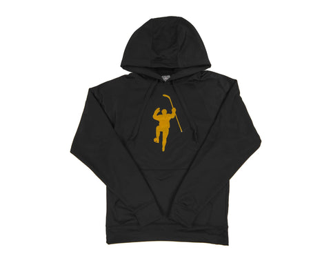 Black with Yellow Logo Performance Hoodie