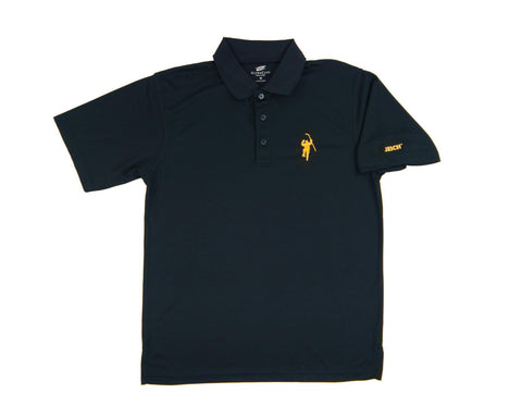 Navy with Yellow Logo Performance Polo