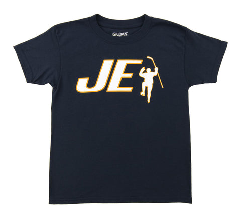 JE Initials Logo Navy Tee Shirt (Youth)