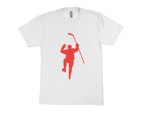 White with Red Logo Tri-Blend Tee Shirt