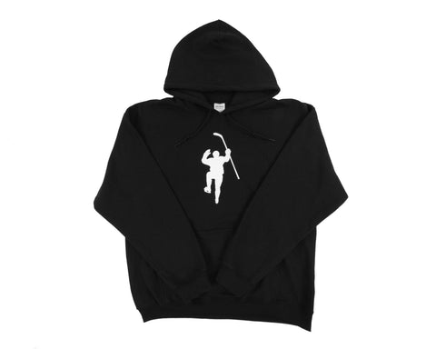 Black with White Logo Dual Blend Hoodie