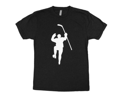 Black with White Logo Tri-Blend Tee Shirt