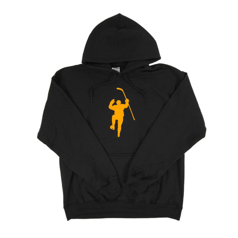 Black with Yellow Logo Dual Blend Hoodie