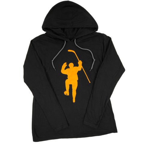 Black with Yellow Logo Dual Blend Hoodie (Women)