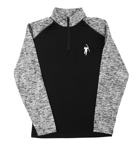 Black Colorblock 1/4 Zip Performance Long Sleeve Shirt