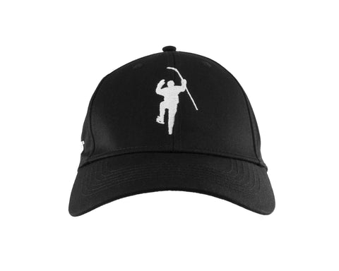 Black with White Logo Adjustable Hat
