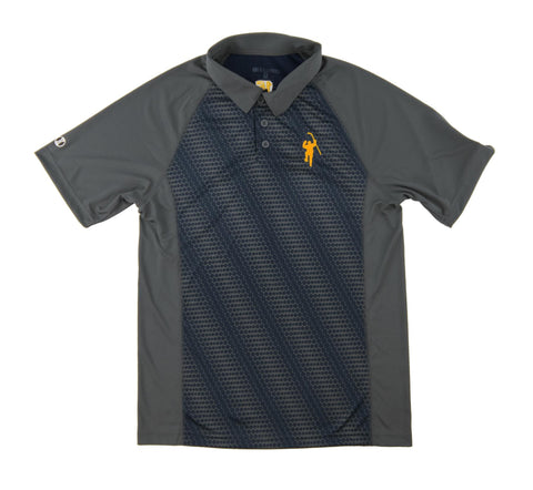 Gray & Navy Torpedo Performance Polo