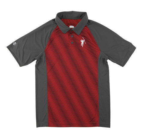Gray & Red Torpedo Performance Polo