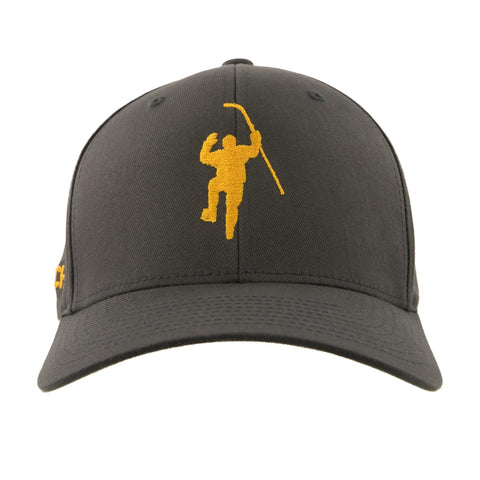 Gray with Yellow Logo Flex Fit Hat
