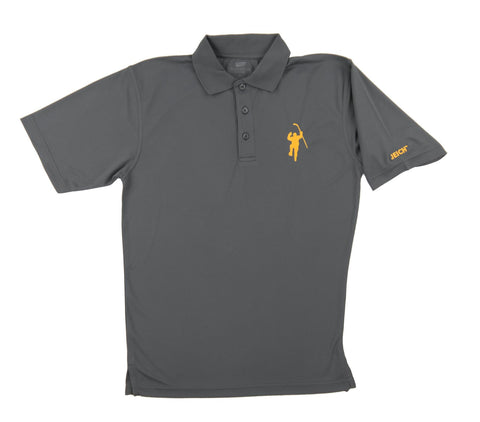 Gray with Yellow Logo Performance Polo