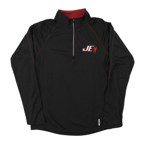 Black & Red Radar 1/4 Zip Performance Long Sleeve Shirt