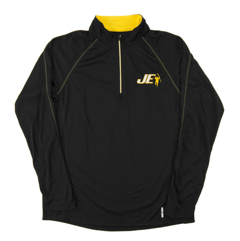 Black & Yellow Radar 1/4 Zip Performance Long Sleeve Shirt