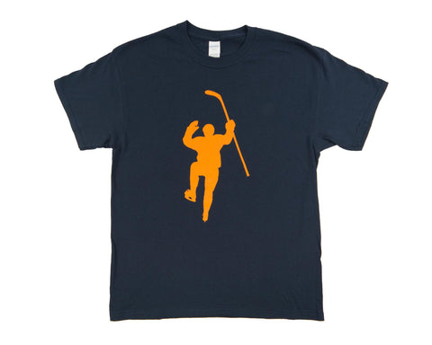 Navy with Yellow Logo Tee Shirt