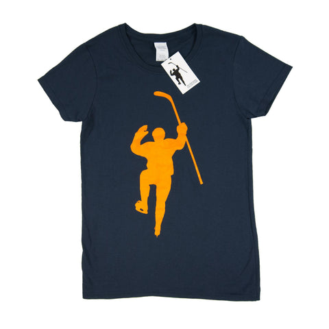 Navy with Yellow Logo Tee Shirt (Women)
