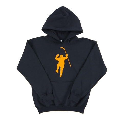 Navy with Yellow Logo Dual Blend Hoodie (Youth)