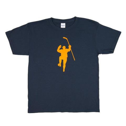 Navy with Yellow Logo Tee Shirt (Youth)