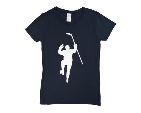 Navy with White Logo Tee Shirt (Women)