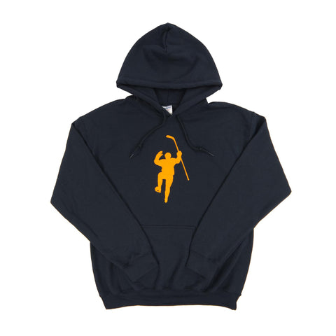Navy with Yellow Logo Dual Blend Hoodie