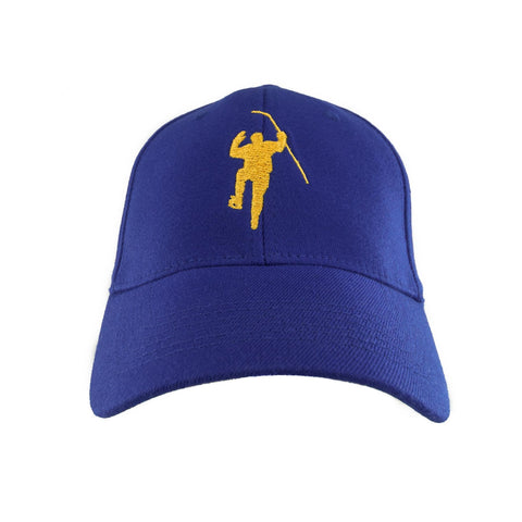 Royal with Yellow Logo Flex Fit Hat