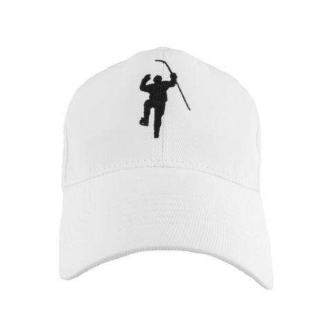 White with Black Logo Flex Fit Hat
